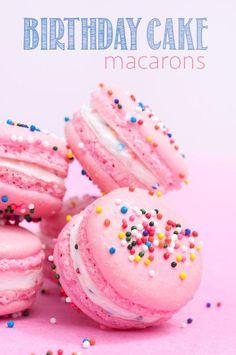Birthday Cake Macarons, pretty & delish!
