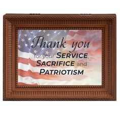This music box is a beautiful way to say thank you to the great men and women of our country who tirelessly serve to keep us safe, protect our freedoms and uphold our constitution. We are forever grateful.