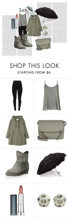 """""""Under my Umbrella 💙💙💥💥👢👢☔☔☔☔🌂 !!!!!! Enjoy a rainy day outside! !!"""" by virinaehab ❤ liked on Polyvore featuring WearAll, MANGO, DKNY, Ash, Gizelle Renee, Maybelline and Chanel"""