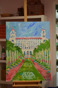 The Breakers Palm Beach painted by Lilly Pulitzer print designer Paige Smith