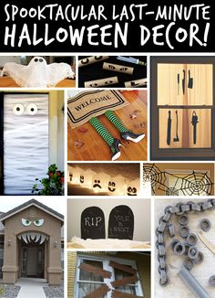 If your house isn't decked-out for Halloween yet...no need to FEAR! There's still plenty of time to deck out your home with these quick & easy, last-minute DIY decor ideas! Frightfully fun! :-)