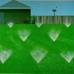 David Hockney, A Lawn Being Sprinkled, 1967