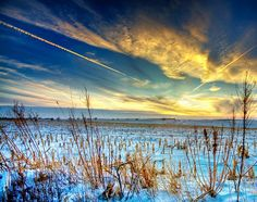 Nebraska landscape winter