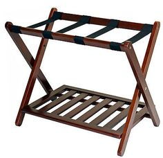 Portable Suitcase Stand Baggage Luggage Rack Hotel Guests Bedroom Travel Folding