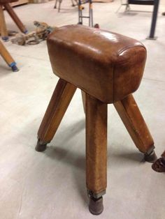 gymnastic leather buck