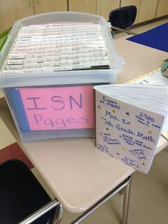 How to manage ISN notebook contents. Students can go to this bucket to get any work they missed! Definitely using this next year.