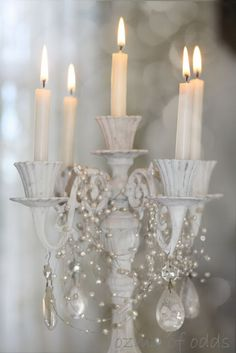 Shabby Chic  https://www.etsy.com/listing/169546719/vintage-5-light-candelabra-candle-holder?