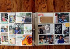 PROJECT LIFE: Using 4x6 photos in smaller slots. This is great because sometimes I just don't have the right pics for the page protector I am using!