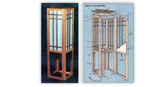 Shoji Screen Lamp Plans - Woodworking Plans and Projects - Woodwork, Woodworking, Woodworking Plans, Woodworking Projects Shed Storage, Small Storage, Tall Cabinet Storage, Shed Design Plans, Shed Plans, Lean To Shed Kits, 10x12 Shed, Shed Construction, Shoji Screen