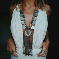 WEBSTA @ bohohipgypsies - Rare one of a kind statement tribal necklaces ............@hazelandfolk #bohohipgypsies #bohemianstyle #bohoglam #boholife #boho #bohochic #bohostyle #hipster #hippielove #hippiespirits #hippielife #hippistyle #wildheart #wildlife #wild #wildandfree #vibes #goodvibesonly #freespirits #freepeople #wanderlust #tribal