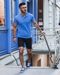 Mens Fashion Tips .Mens Fashion Tips Stylish Mens Outfits, Summer Fashion Outfits, Short Outfits, Men Summer Fashion, Modest Fashion, Short Kaki, Polo Shirt Outfits, Look Man, Men Style Tips