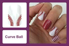 From little leagues to big leagues, you're sure to be a real hit at any ball game with 'Curve Ball'! Wear them on their own or pair with your favorite team colors. #bevsjamminnails https://bkimball.jamberry.com/us/en/shop/products/curve-ball#.VxfKcfkrJQI