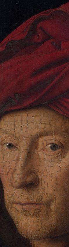 Detalle de El hombre del turbante rojo, por Jan van Eyck, 1433                                                                                                                                                                                 Más