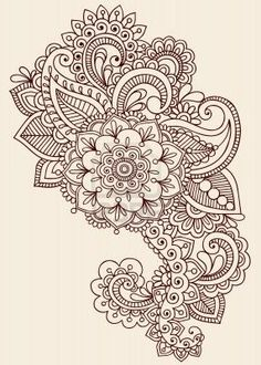 Mandala flower with paisleys. Love <3