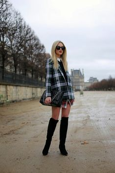 Over the knee boots for a rainy day in Paris // More Paris shots available on Atlantic-Pacific Paris Outfits, Cool Outfits, Fashion Outfits, Womens Fashion, Fall Winter Outfits, Spring Outfits, Fashion Over 50, Fashion Looks, Atlantic Pacific