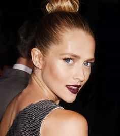 Now Trending: A Moody Take on Red Lipstick via @ByrdieBeauty