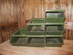 Your place to buy and sell all things handmade Vintage Industrial Decor, Drawer Storage, Flea Market Finds, Look Cool, Boy Room, Army Green, Vintage Shops, Steel, Cool Stuff