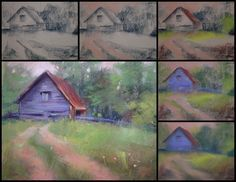 Painting My World: A Simple Way to Start a Pastel Painting