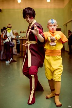 Zuko and Aang, Avatar the Last Airbender.