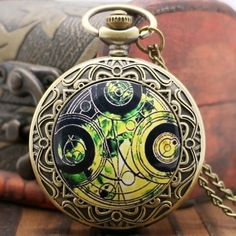 Pocket & Fob Watches Creative Bronze Necklace Chain Robot Shape Pattern Pocket Watches Women Men Quartz Clock For Ladies Retro Analog Clock Firm In Structure