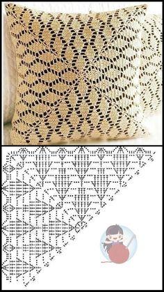 Crochet Pillow Cases, Crochet Pillow Patterns Free, Crochet Tablecloth Pattern, Crochet Cushion Cover, Crochet Cushions, Crochet Doilies, Crochet Flowers, Crochet Carpet, Crochet Home
