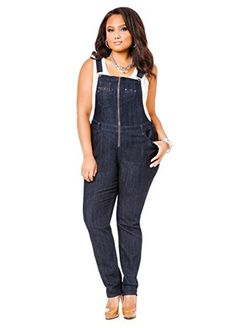 Fashion Bug Womens Plus Size Suspender-Back Overalls. Mature Women Fashion, Curvy Girl Fashion, Plus Size Fashion, Petite Outfits, Plus Size Outfits, Petite Clothes, Denim Romper, Stretch Dress, Overalls