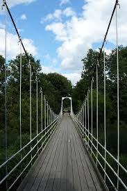 Suspension bridge in Lagedi, Estonia