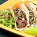 Steak Tacos Your slow cooker makes Mexican-style magic, turning flank steak fork-tender and infusing it with irresistible flavors for the best steak tacos you ever ate. Calories - 152 Carbohydrates - 4g Fat - 8g Protein - 15g Sodium - 186mg