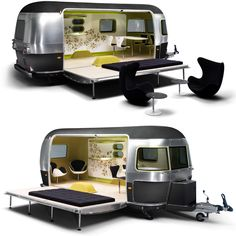 Mini Cooper S Clubman Airstream Trailer - the perfect guest bedroom! #dreamhome