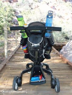 Storage on the 4Moms Origami stroller