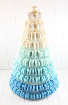 Image result for blue macaron tower