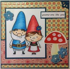 Craftychick Cards: Gnomeo and Juliet Inspired card
