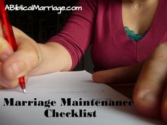 Marriage Maintenance Checklist - A Biblical Marriage Christ Centered Marriage, Biblical Marriage, Marriage And Family, Happy Marriage, Marriage Advice, Love And Marriage, Social Media List, Hubby Love, Husband