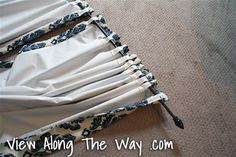 Tutorial: How to Sew DIY Black-out Lined Back-tab Curtain/Drapery Panels | * View Along the Way *