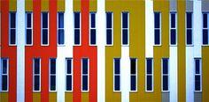 kleur in de architectuur, den haag spoorwijk