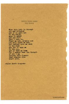Typewriter Series #689 by Tyler Knott Gregson