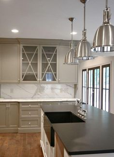 Gray painted cabinet! Chic by #totalhome