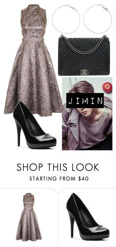 """""""Jimin Inspired Outfit"""" by flaviaazevedo2000 ❤ liked on Polyvore featuring Topshop, Michael Antonio, Chanel, party, bts, bias and jimin"""