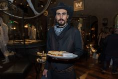 Westworld dinner party: Costumed servers and entertainers added to the western-inspired look and feel.