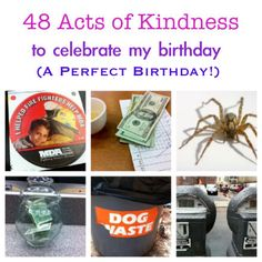 Random Acts of Kindness to celebrate my birthday. 48 Acts of Random Kindness to celebrate my birthday. Lessons For Kids, Life Lessons, Kindness Projects, Kindness Ideas, 40th Birthday, Birthday Ideas, Happy Birthday, Small Acts Of Kindness, Serving Others