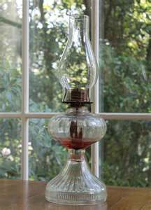 Southern Vintage Oil Lamp, looks like mamaws. I still use oil lamps when the powers out