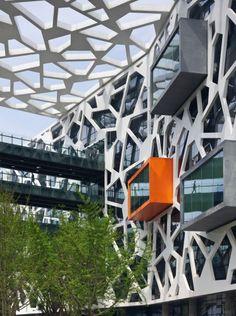 alibaba headquarters office ofis glass facade cam cephe structure strüktür