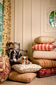 Interior Designer Charles Faudree:  My three favorite things: Charles Faudree Designs, toile fabrics and Cavaliers.