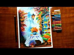 Big Moon Nightscape Drawing - Soft Pastel Drawing - Drawing for beginners - time lapse . - Trend Topic For You 2020 Oil Pastel Paintings, Oil Pastel Art, Oil Pastel Drawings, Cool Art Drawings, Colorful Drawings, Drawing Designs, Drawing Drawing, Painting & Drawing, Oil Pastel Colours