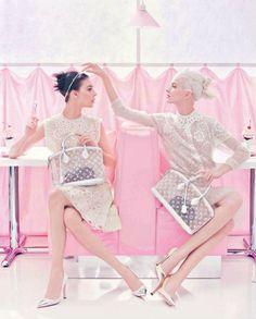 Louis Vuitton: S/S 2012 Ad Campaign. Kati Nescher & Daria Strokous shot by Steven Meisel.