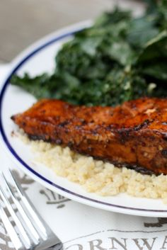 Skillet Balsamic Salmon - try with passion fruit vinegar.
