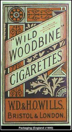 """""""Victorian Era Graphic Design"""" This shows the typical style of advertisements in the victorian era."""