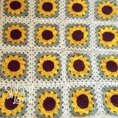 Ravelry Ruthl S Sunflower Afghan Afghans Pinterest