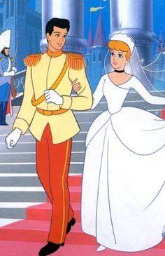 Cinderella and Prince Charming - Wedding Style. #FairyTaleWeddings #Cinderella #Disney