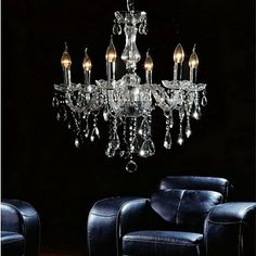 Elegant Crytal Chandelier with 6 Lights – USD $ 239.99